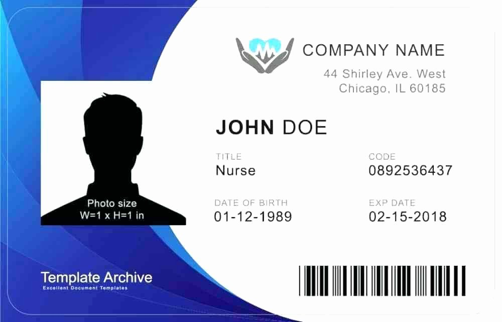 Id Card Template Word Inspirational Id Badge Template Photoshop – Arabnormafo