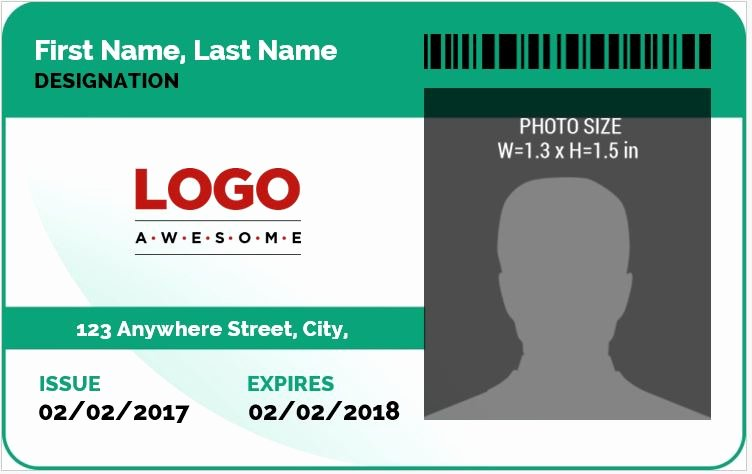 Id Card Template Word Lovely Ms Word Id Badge Sample Template