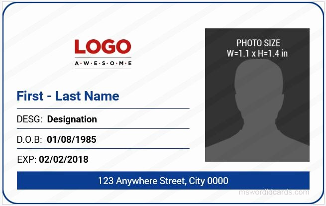 Id Card Template Word New 5 Best Fice Id Card Templates Ms Word