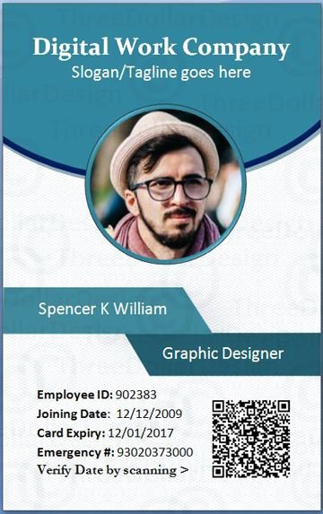 Identity Card Template Psd Awesome Employee Card format In Word