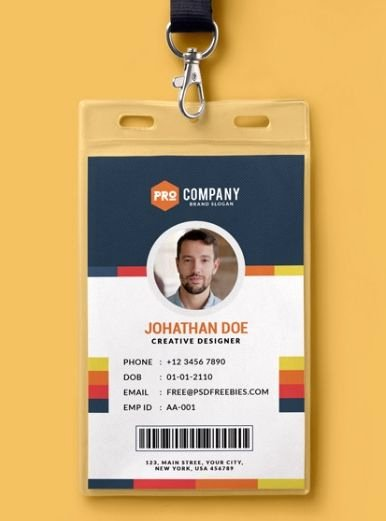 Identity Card Template Psd Awesome Pinterest