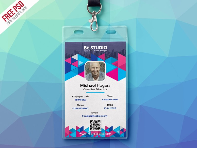 Identity Card Template Psd Best Of Abstract Fice Id Card Free Psd