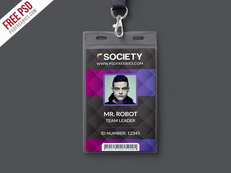 Identity Card Template Psd Fresh Corporate Fice Id Card Psd Template