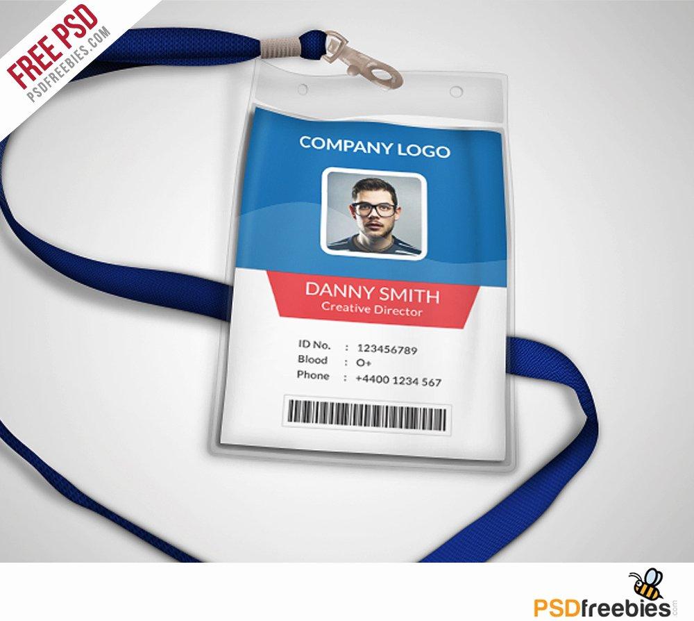 Identity Card Template Psd Fresh Multipurpose Pany Id Card Free Psd Template