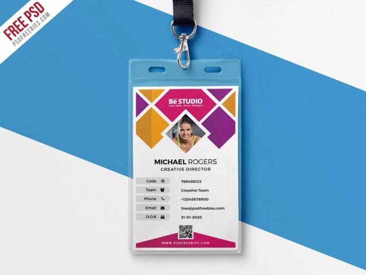 Identity Card Template Psd Inspirational Creative Fice Id Card Template Psd Download Psd