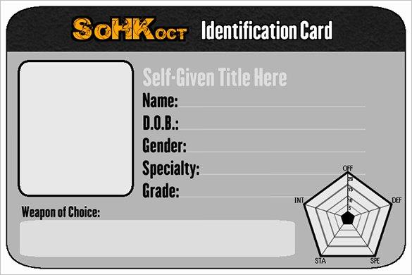 Identity Card Template Psd Luxury 29 Id Card Templates Psd