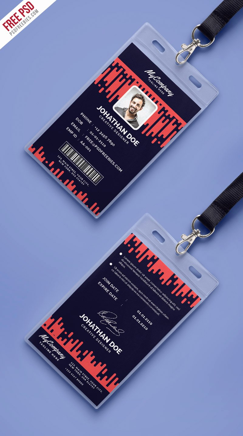 Identity Card Template Psd Luxury Corporate Pany Identity Card Template Psd