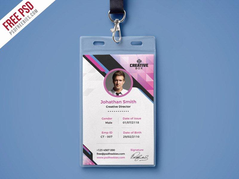 Identity Card Template Psd Luxury Id Card Psd Template