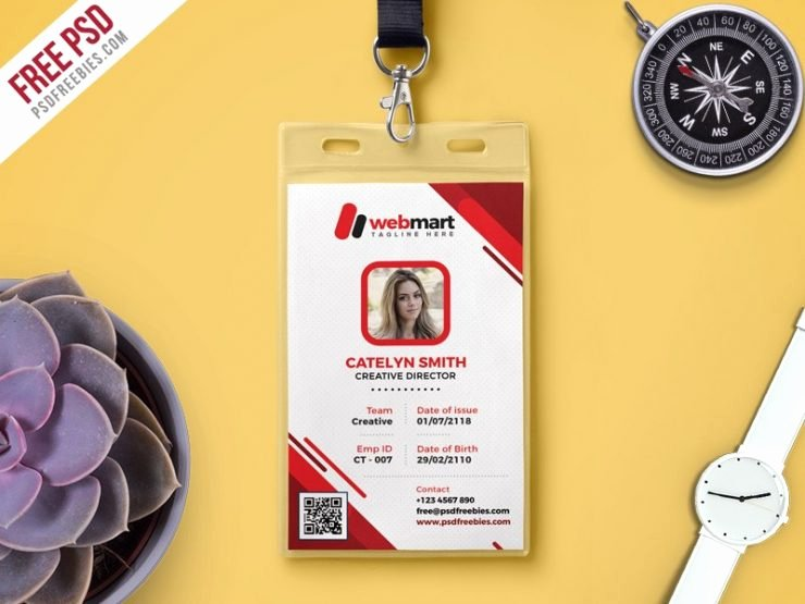 Identity Card Template Psd New Id Card Template Free Psd Download Psd