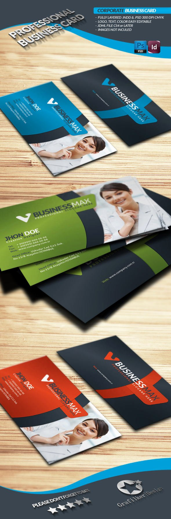 Illustrator Business Card Template Awesome 15 Premium Business Card Templates In Shop