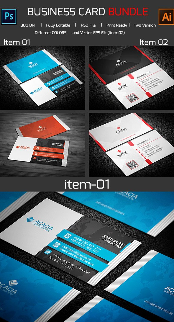 Illustrator Business Card Template New 15 Premium Business Card Templates In Shop