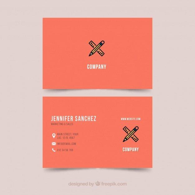 Illustrator Business Card Template Unique Business Card Template Illustrator Vector