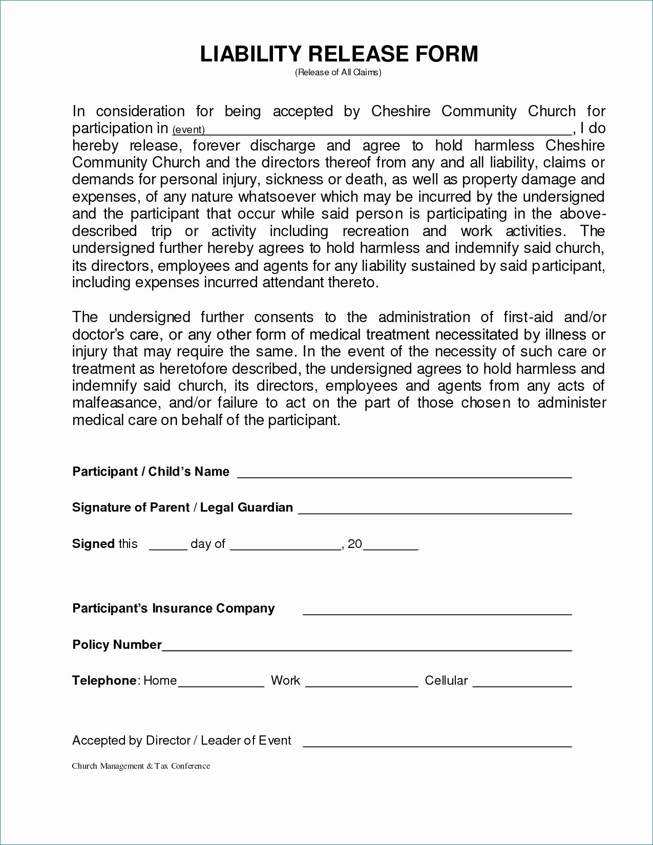 Image Release form Template Awesome General Liability Release form Image – General Liability