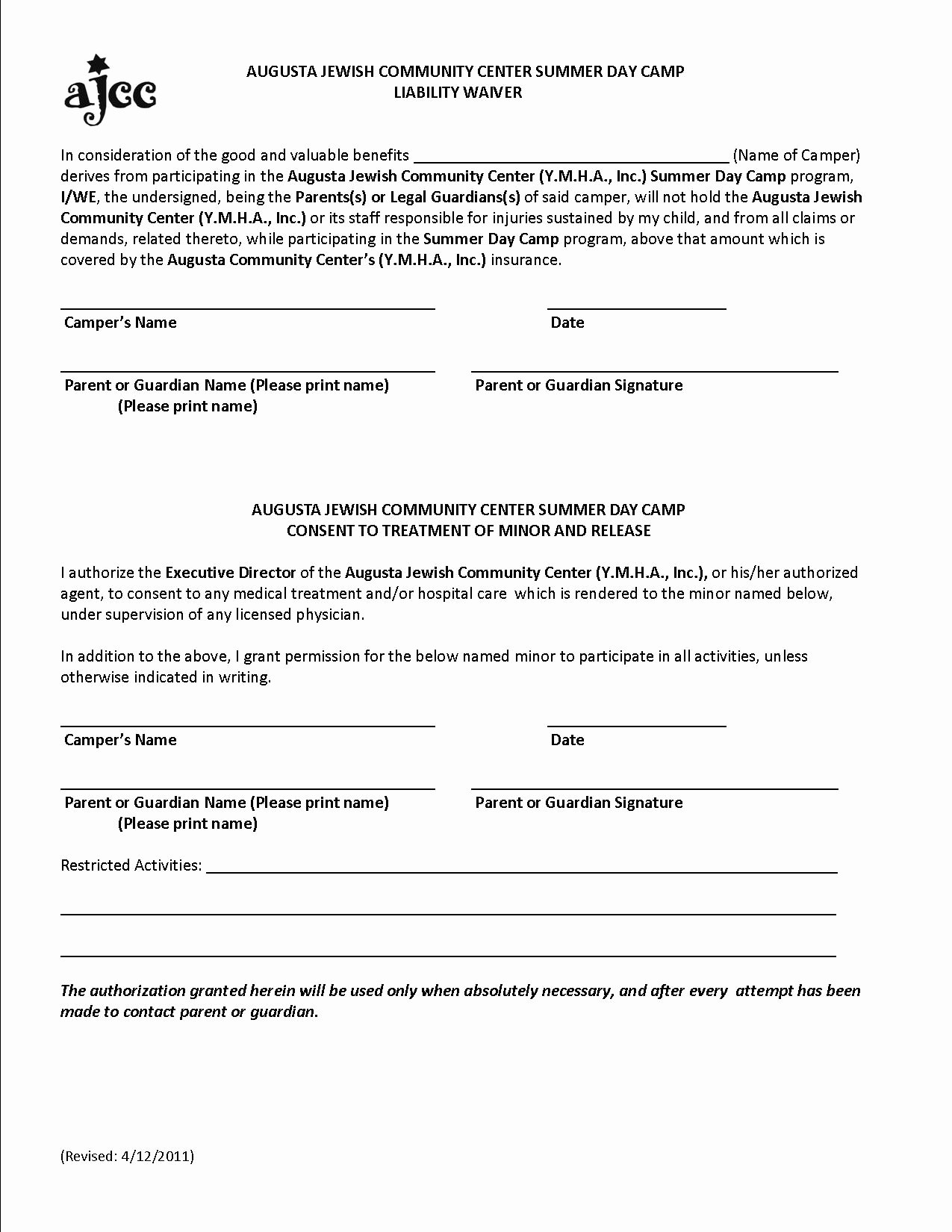Image Release form Template Fresh Free Printable Liability form form Generic