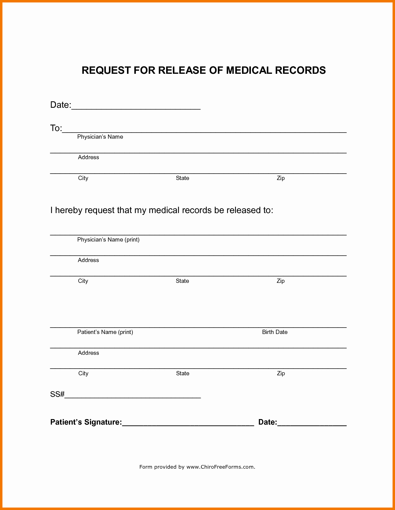 Image Release form Template Fresh Medical Record Release form Template