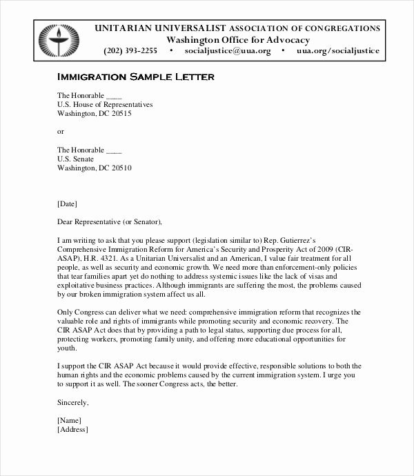 Immigration Recommendation Letter Template Beautiful 10 Immigration Reference Letter Templates Pdf Doc