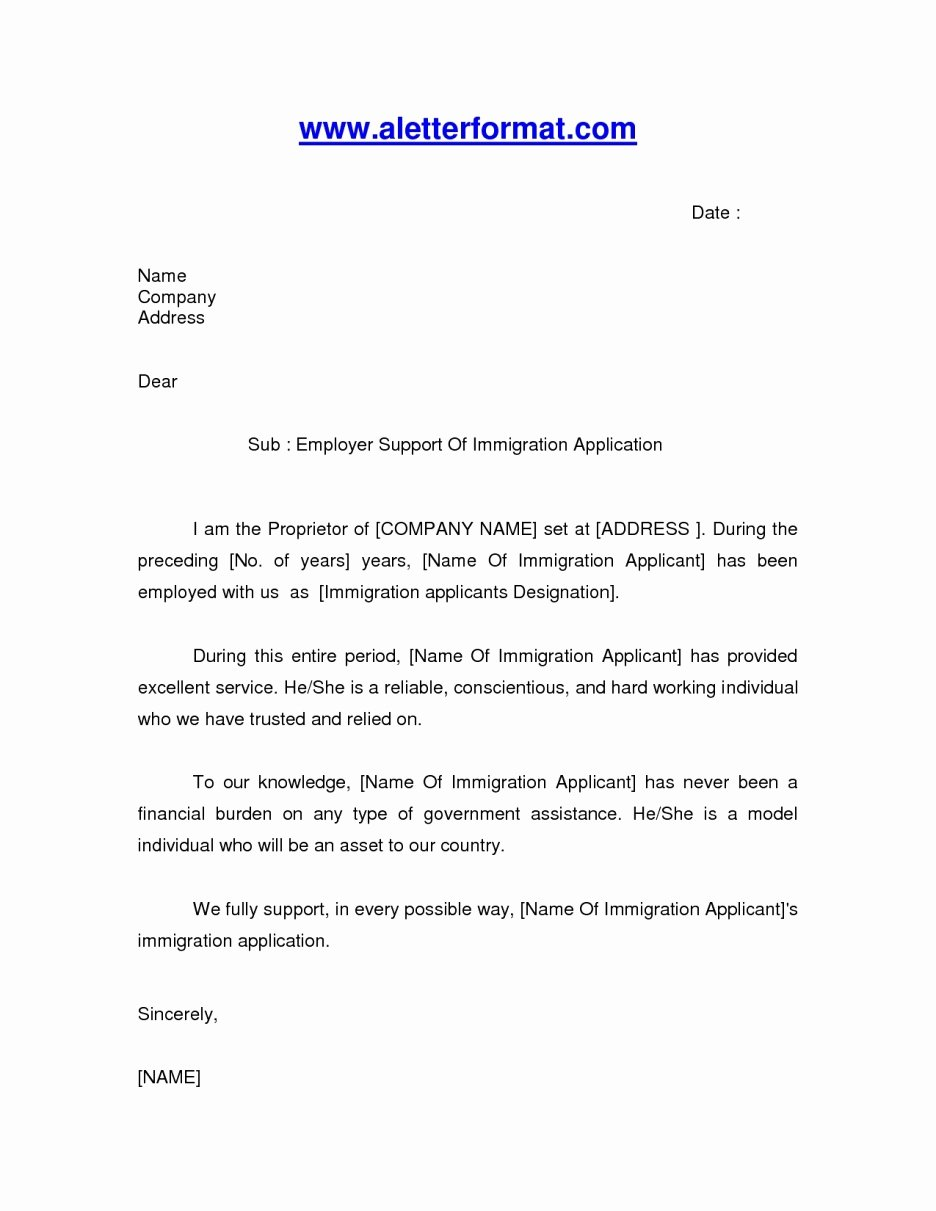 Immigration Recommendation Letter Template Luxury Letter Reference for A Friend Immigration – Letter