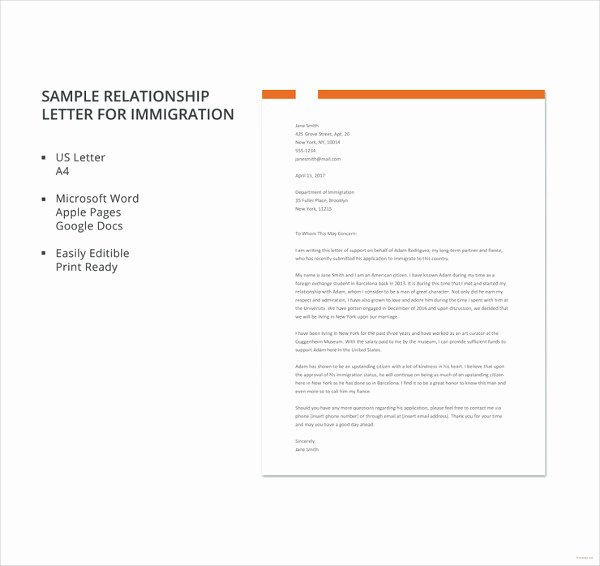 Immigration Reference Letter Template Fresh 10 Immigration Reference Letter Templates Pdf Doc
