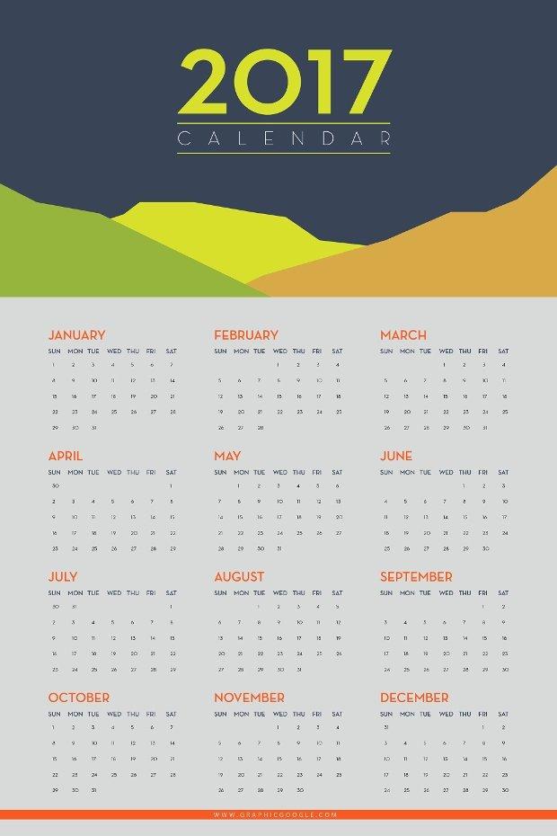 In Design Calendar Template Beautiful 30 Calendar Designs Psd Ai Indesign Eps