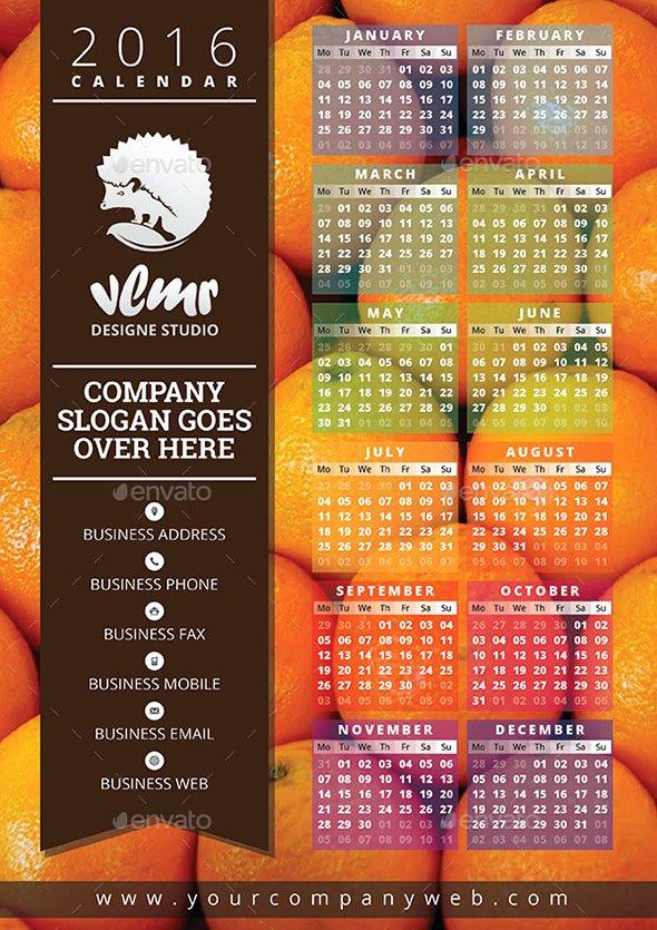 In Design Calendar Template Best Of 19 Nice Calendar 2016 Indesign Templates – Design Freebies