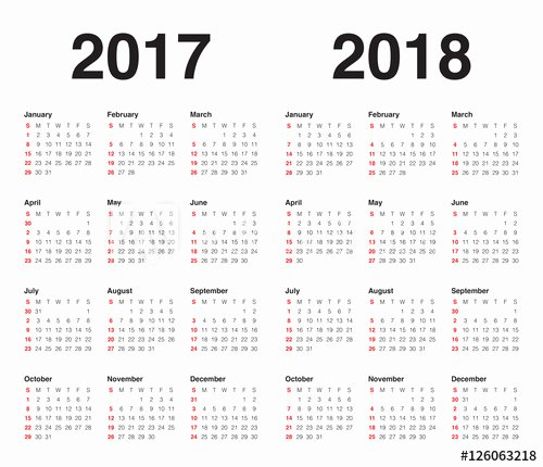 In Design Calendar Template Elegant Simple Calendar Template for 2017 and 2018 Buy This