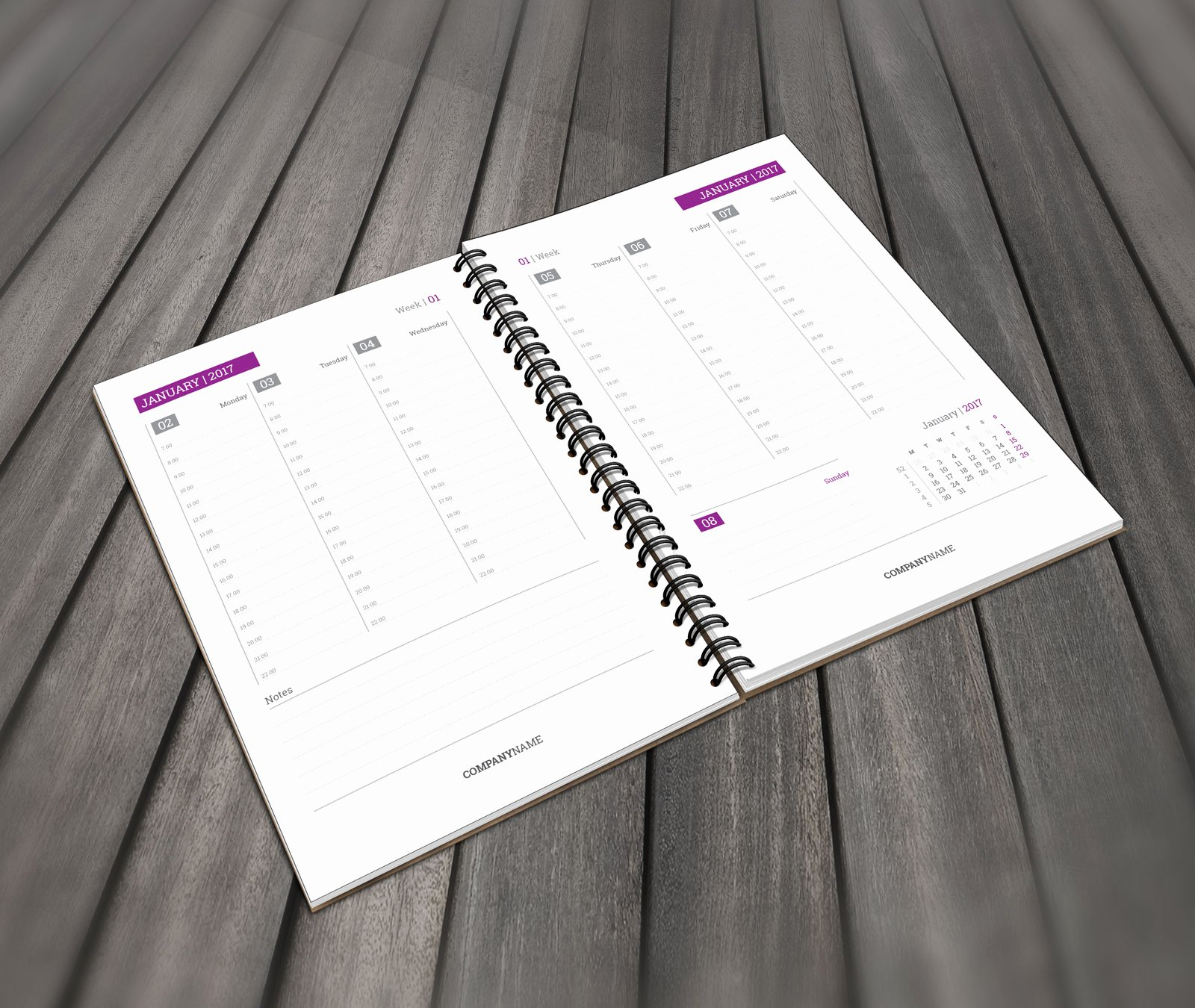 In Design Calendar Template Fresh Daily Planner Template In Pdf and Indesign format for 2019