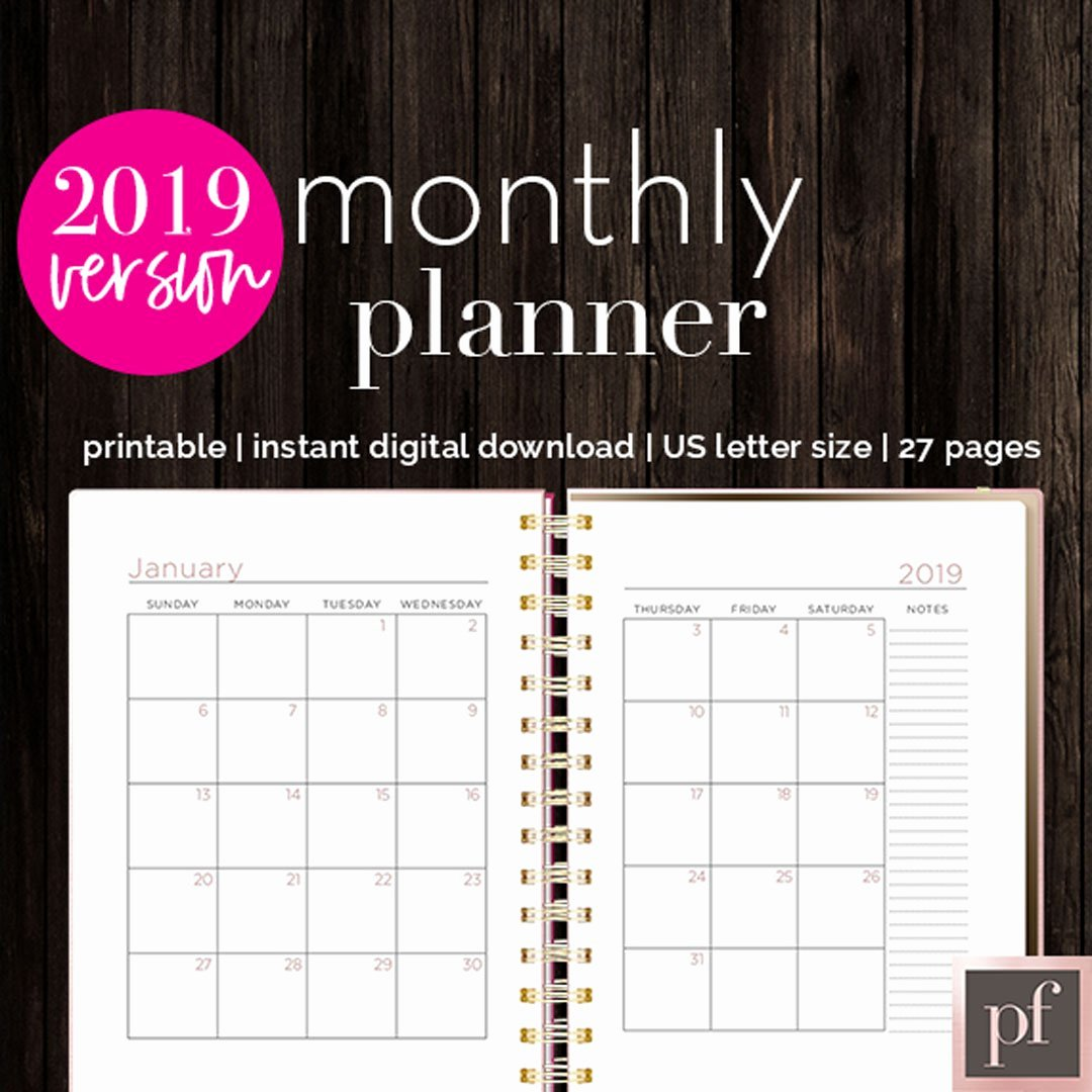 In Design Calendar Template Fresh Monthly Planner
