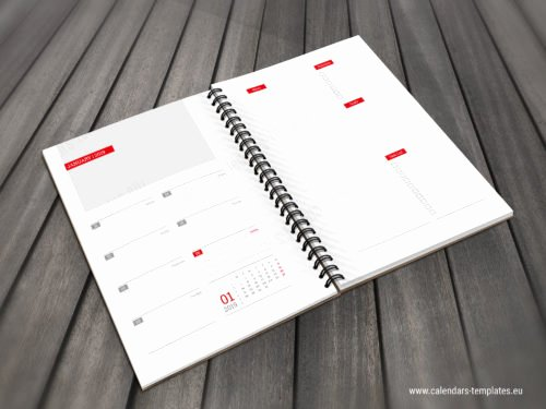 In Design Calendar Template Inspirational Daily Planner Template In Pdf and Indesign format for 2019
