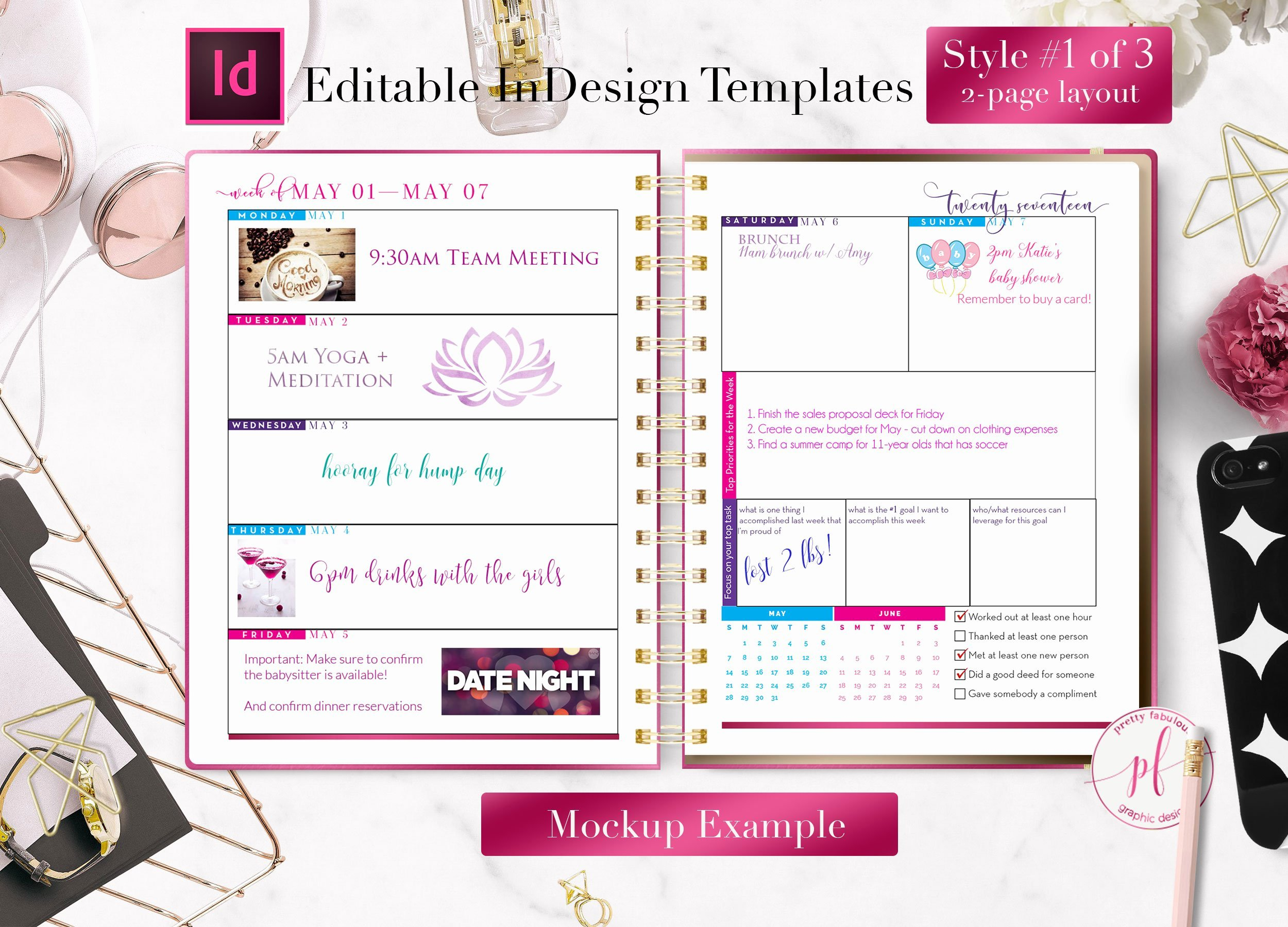 In Design Calendar Template Lovely Weekly Calendar