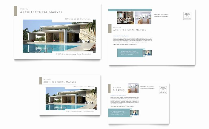 In Design Postcard Template Best Of Modern Real Estate Postcard Template Design