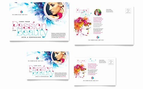 In Design Postcard Template Fresh Beauty & Nail Salon Postcard Templates Word & Publisher