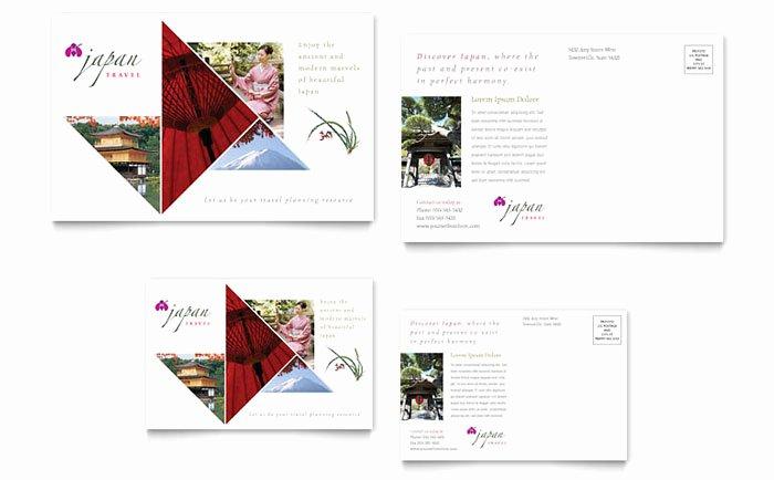 In Design Postcard Template Unique Japan Travel Postcard Template Design