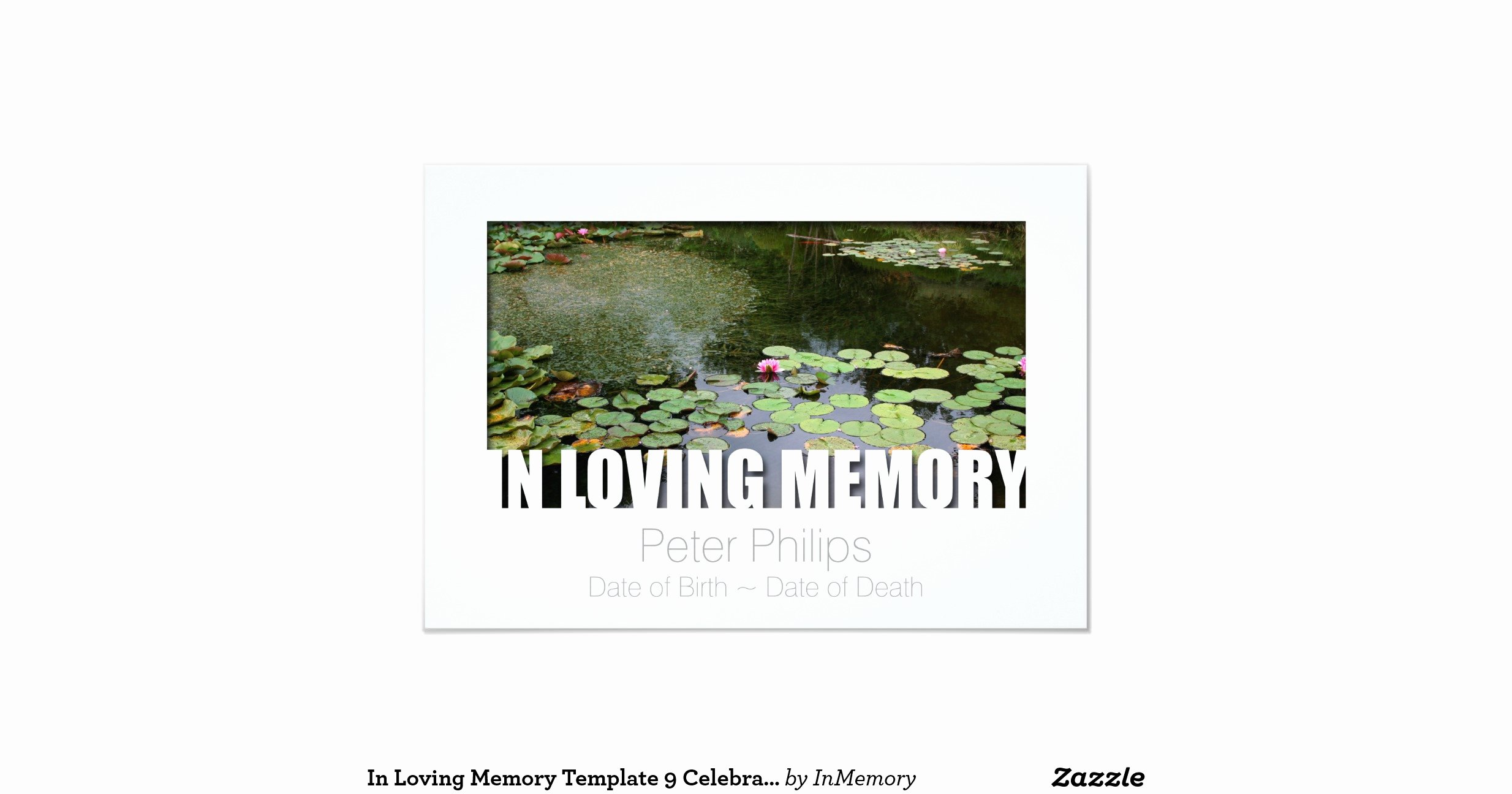 "In Loving Memory Template Awesome In Loving Memory Template 9 Celebration Of Life 3 5"" X 5"
