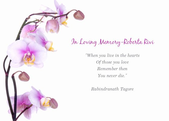 In Loving Memory Template Awesome Memorial Service for Roberta Line Invitations & Cards