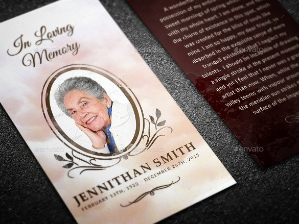 In Loving Memory Template Beautiful 21 Funeral Bookmark Templates Word Psd