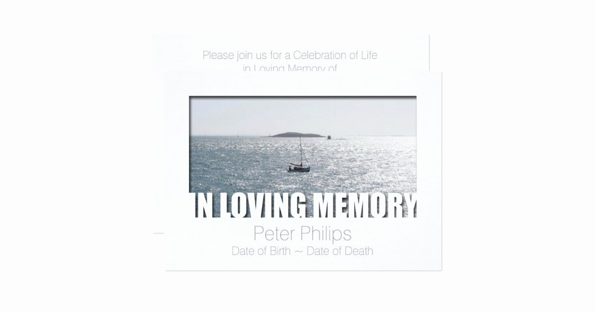 In Loving Memory Template Best Of In Loving Memory Template 4 Celebration Of Life Card
