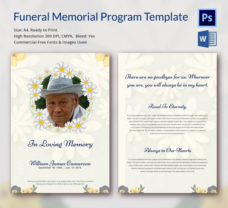 In Loving Memory Template Elegant 5 Funeral Memorial Templates – Free Word Pdf Psd