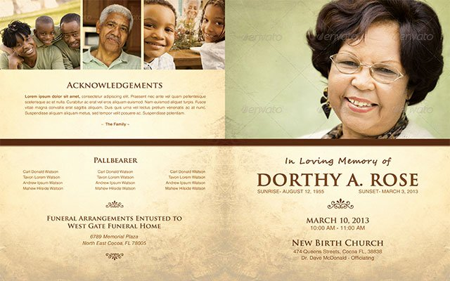 In Loving Memory Template Elegant In Loving Memory Funeral Program Template 005 by Loswl On