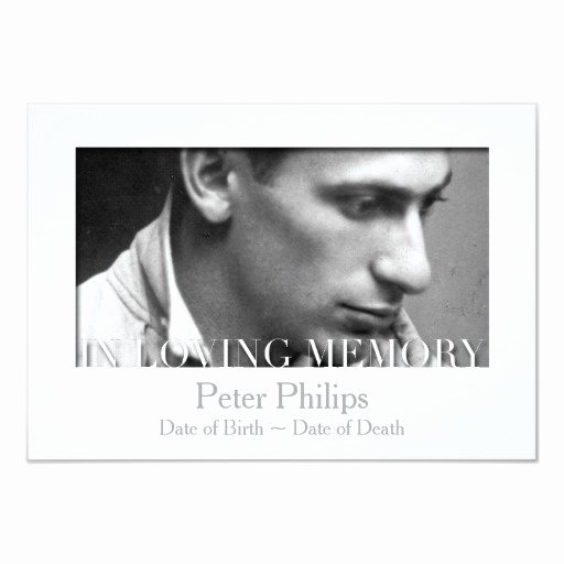 In Loving Memory Template Elegant In Loving Memory Template Celebration Of Life Custom