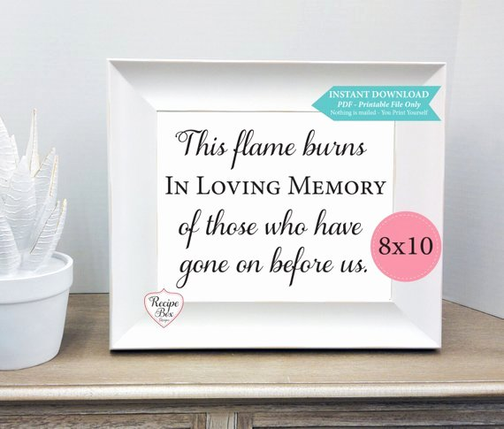 In Loving Memory Template Elegant Items Similar to In Loving Memory Instant Download