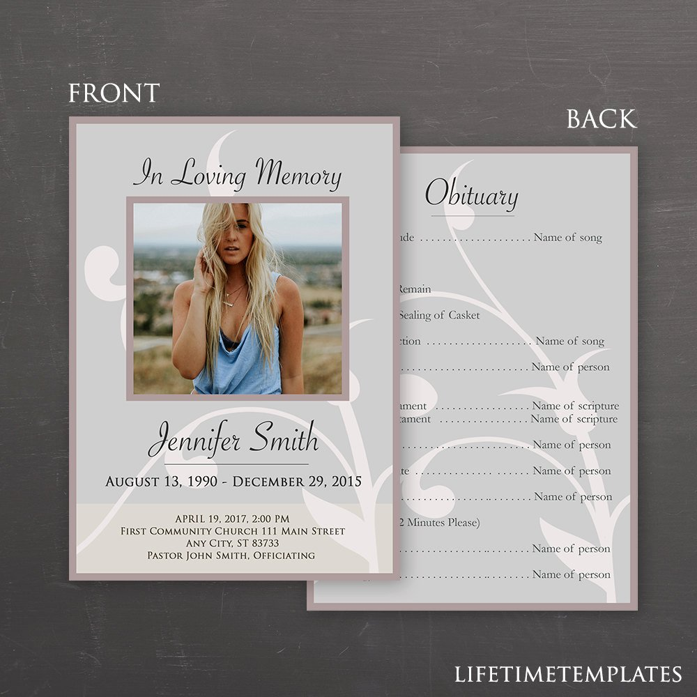 In Loving Memory Template Fresh In Loving Memory Funeral Template Shop Psd Instant