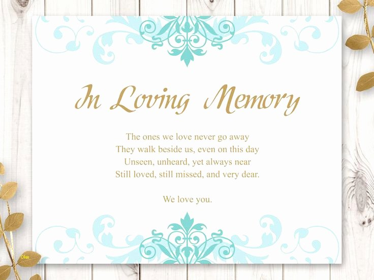 In Loving Memory Template Fresh New In Loving Memory Template Free