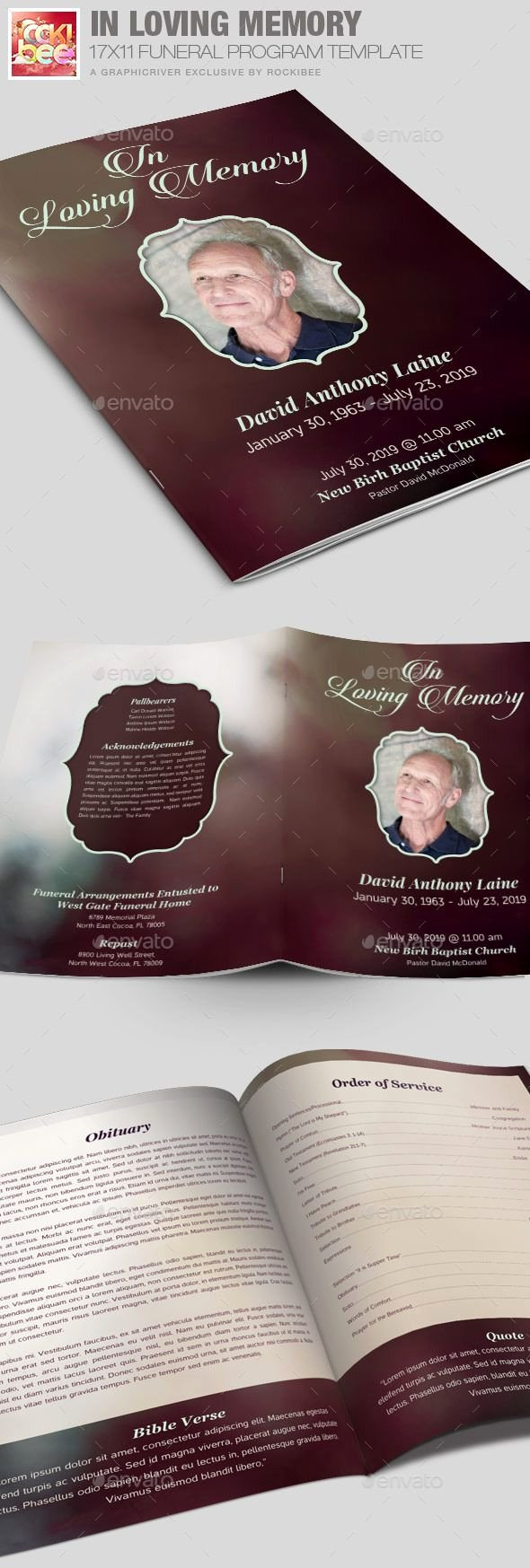 In Loving Memory Template Inspirational 104 Best Images About Funeral Program Templates On