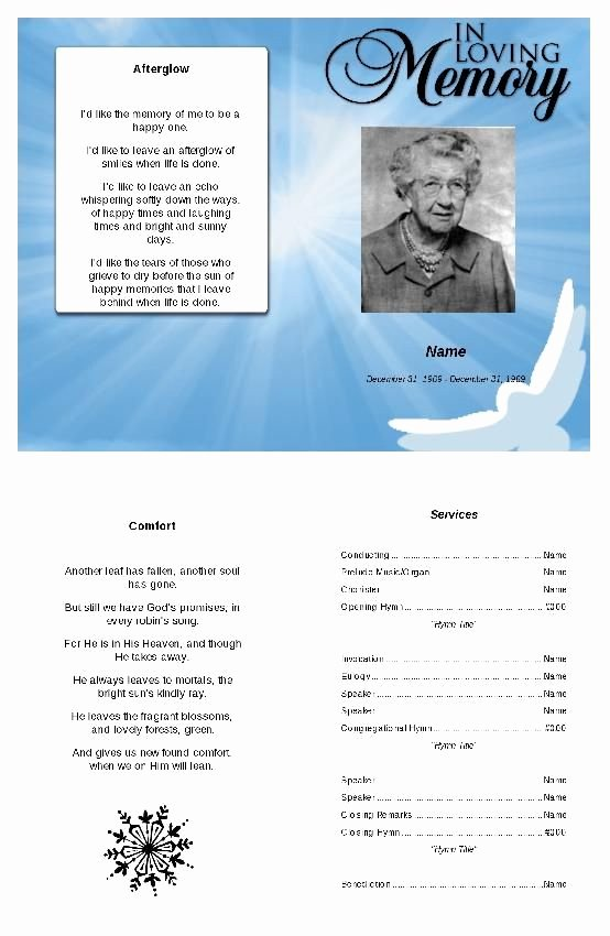 In Loving Memory Template Inspirational 46 Best Images About Funeral Program Template On Pinterest