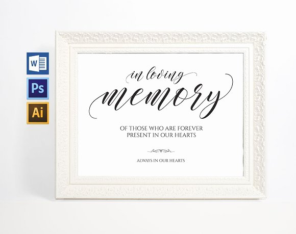 In Loving Memory Template Lovely In Loving Memory Sign Wpc38 Invitation Templates