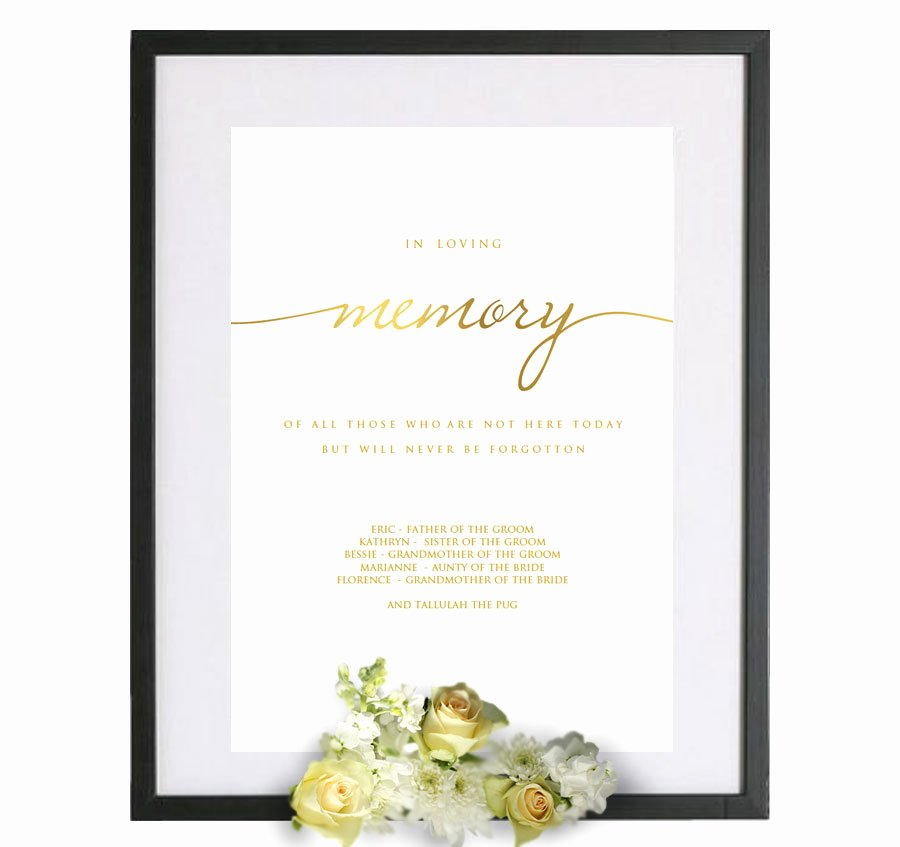 In Loving Memory Template Lovely In Loving Memory Template Gold In Loving Memory Pdf In