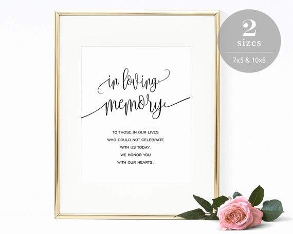 In Loving Memory Template Unique In Loving Memory Sign Template Printable In Memory Sign