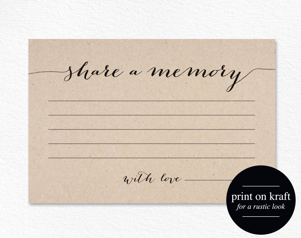 In Memory Of Template Awesome A Memory Card Memory Cards A Memory Printable