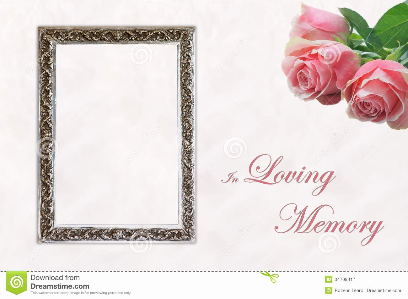 In Memory Of Template Awesome Funeral Eulogy Card Stock Image Image Of Celebration