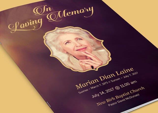 In Memory Of Template Elegant In Loving Memory Funeral Program Template